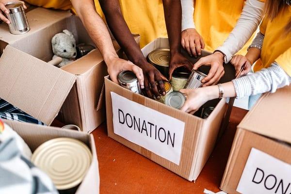 Donations box.