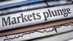 Markets plunge news paper headlines.