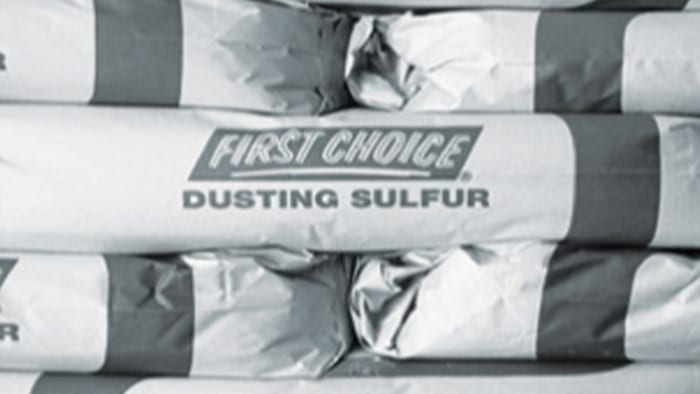First Choice Dusting Sulfur packages.