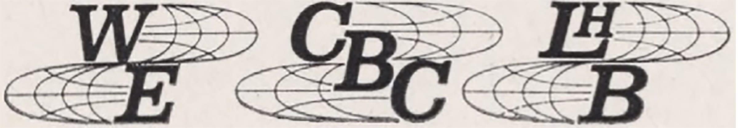 Logos WE, CBC, LHB.