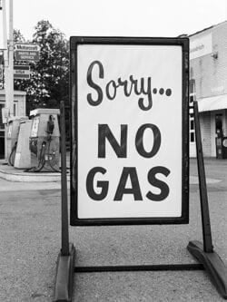 Sorry no gas.