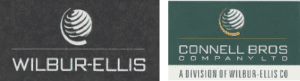 New logo designs from the 1990s for Wilbur-Ellis and Connell Bros Company LTD. A division of Wilbur-Ellis Co.